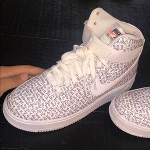Just do it Air Force 1s